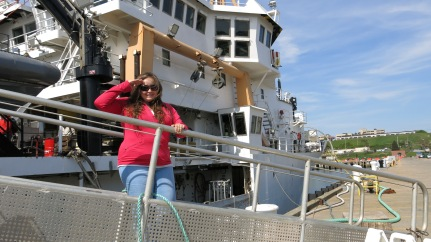 Here I am boarding the NOAA Henry B. Bigelow Photo by: DJ Kast