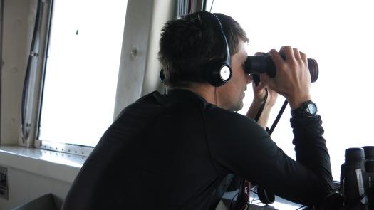 Brad Toms on watch. Photo by: DJ Kast