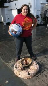 Representing the USC Readerplus Program that hosts my Wonderkids Programs.  Photo by Jerry Prezioso.