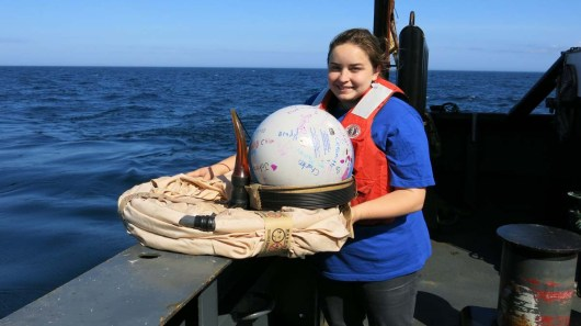 Photo of me with the St. Joseph buoy that will also be deployed. Photo by Jerry Prezioso.