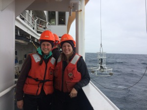 Emily and I working hard to haul in the CTD.
