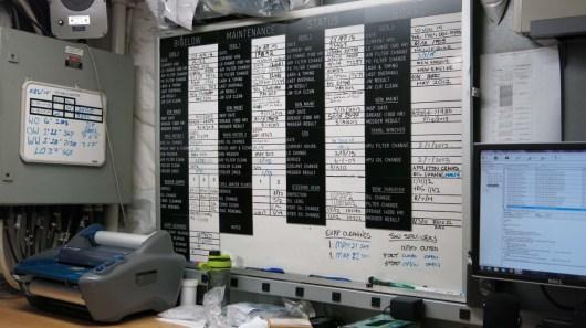 Maintenance Service Board. Photo by DJ Kast.