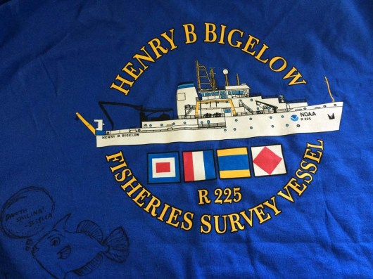 The back of the shirt that the crew and chief Scientist Jerry gave me. Photo by DJ Kast