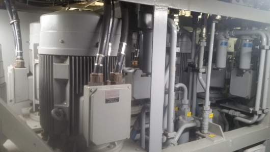 The hydraulic pumps