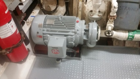 A water pump for a fire station