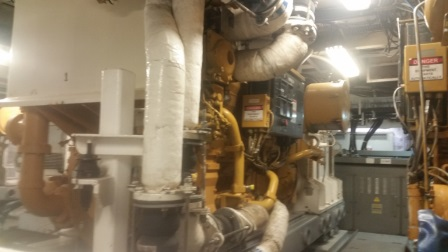 One of the ship's massive generators