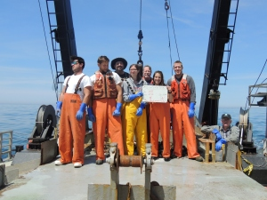 Lean and mean, the Leg III Scallop Survey Class of 2015