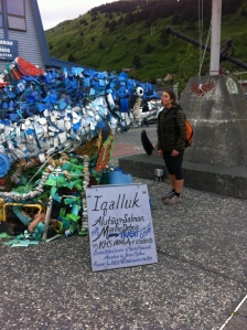 Sculpture constructed from collected marine debris