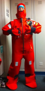 Donning my Immersion Suit!