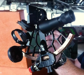 Our sextant on board NOAA Ship Oscar Dyson