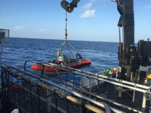 NF3 Dive Boat loaded for ROV Mission