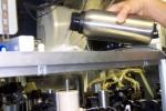 Dr. Alvarez pouring liquid nitrogen into the Lidar to keep the optics cool.