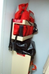 Jennifer's survival gear in her stateroom