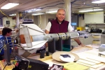 Dr. Mike Gregg is shown in one picture standing next the Modular Microstructure Profiler (MMP).