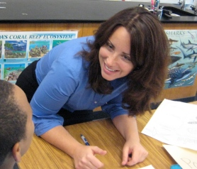 Cristina Veresan loves working with middle school students