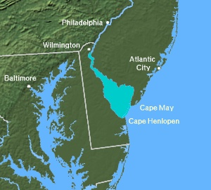Map of Delaware Bay
