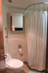 The bathroom in our staterooms