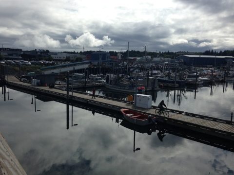 A view of Kodiak Harbor