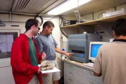 Wes Atkins & Robert Schaaf from University of Washington study the atmosphere.