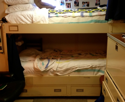 Bunks in our stateroom