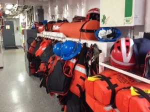 Equipment must be organized so everyone can get what they need.