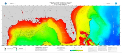 Bathymetric map of the Longline sampling area- NOAA