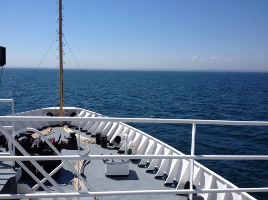 View from the bow of the Thomas Jefferson