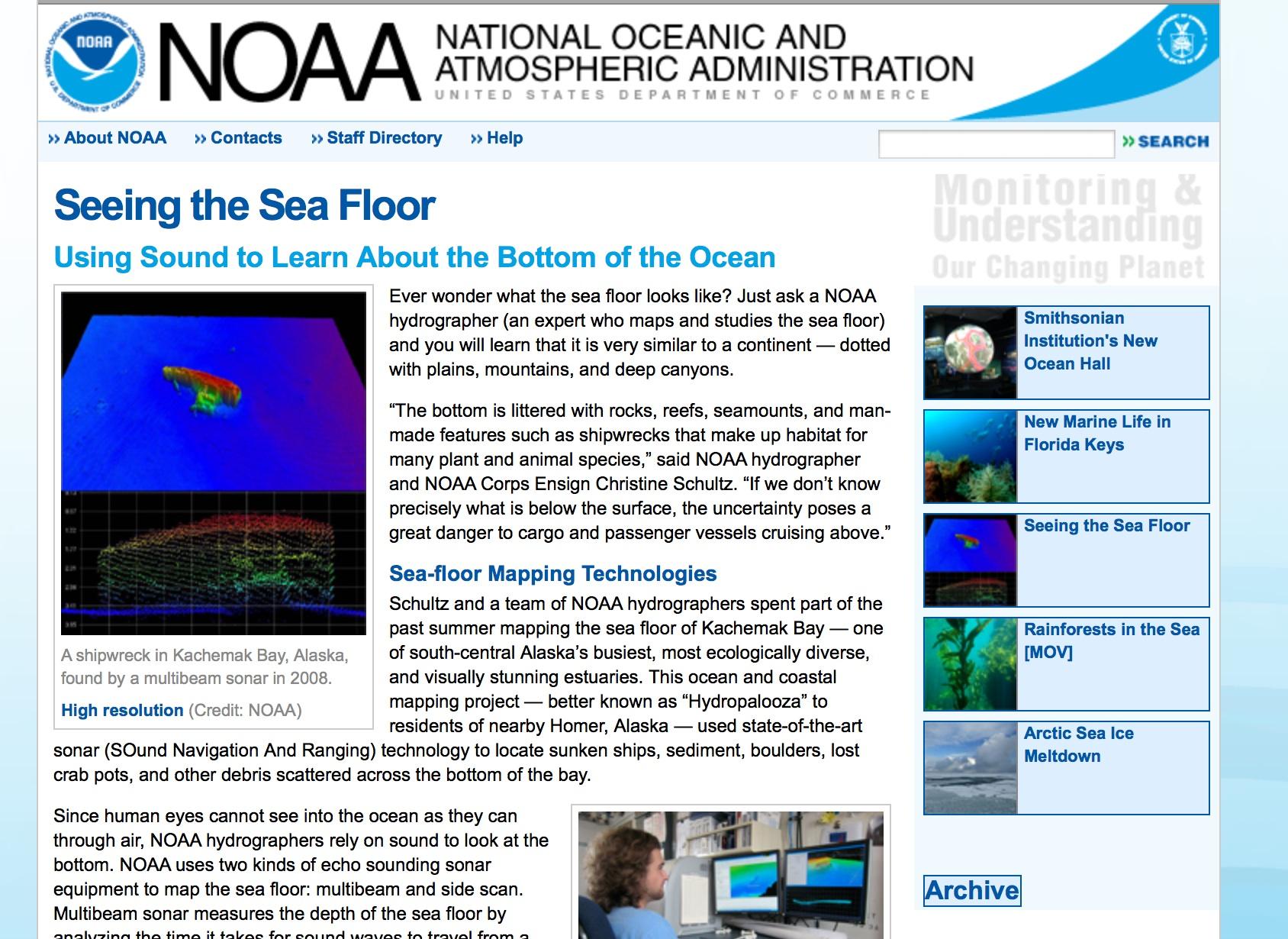 Multi Beam Sonar NOAA Teacher At Sea Blog - What technology allows us to map ocean floor features