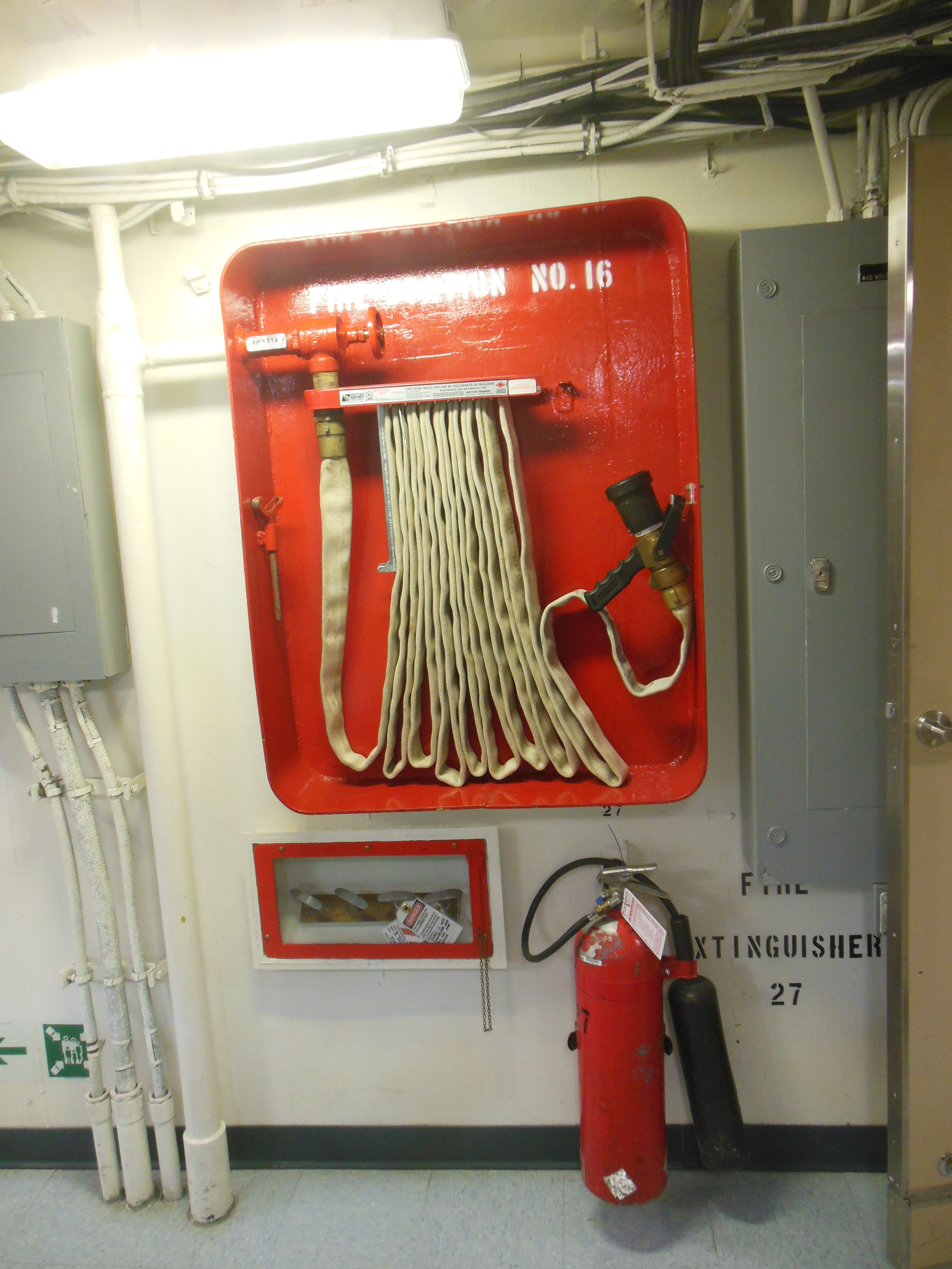 Damage Control Noaa Teacher At Sea Blog Fire Pump Electrical Wiring The Station In Mess Hall