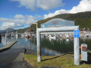 One of the harbors in Kodiak, AK