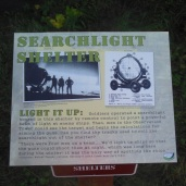 Details about the search lights used. They were rolled out of a structure at night.