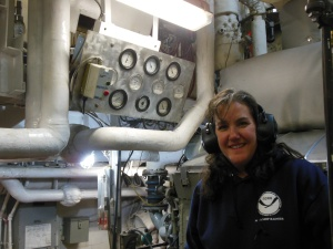Down in the noisy engine room - a fascinating place for me!!