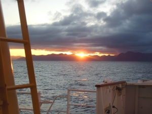 Sunrise from Shelikoff Strait.