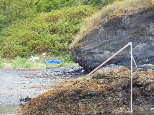 Our finished tide gauge installation from the water.