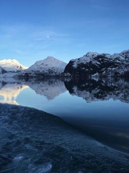 Moon rising over Muir Glacier