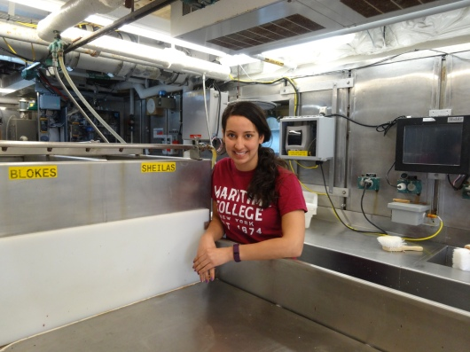 Alyssa Pourmonir inside the Wet Lab