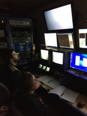 Mike navigates and controls the manipulator arm