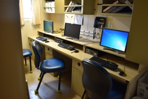 Computer room for Shimada's crew