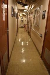 Stateroom hallway on NOAA Ship Shimada