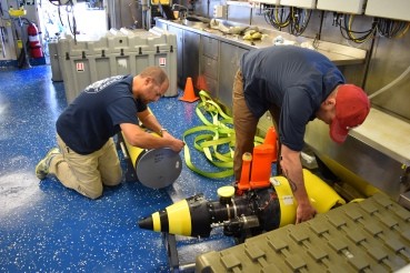 Dismantling the REMUS 600 AUV for its trip home
