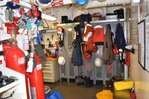 Gear storage on NOAA Sip Shimada
