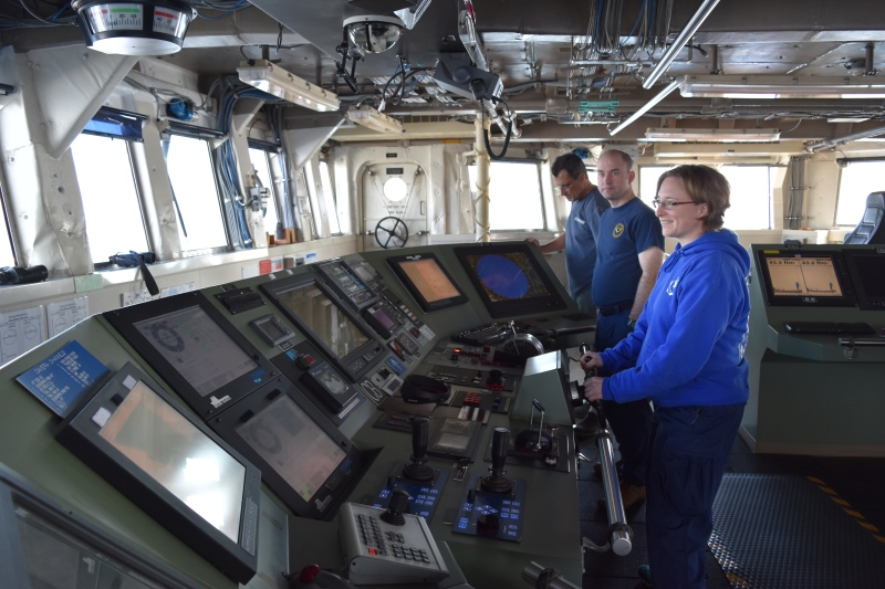 Bridge on the NOAA Ship Shimada