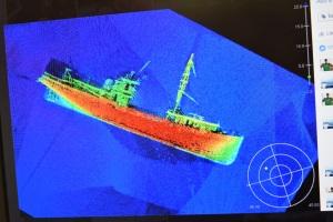 Shipwreck in Buzzard's Bay, MA image courtesy of NOAA Ship Thomas Jefferson