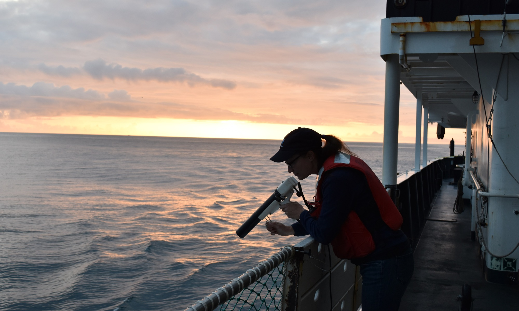 Sunset XBT deployment off Shimada