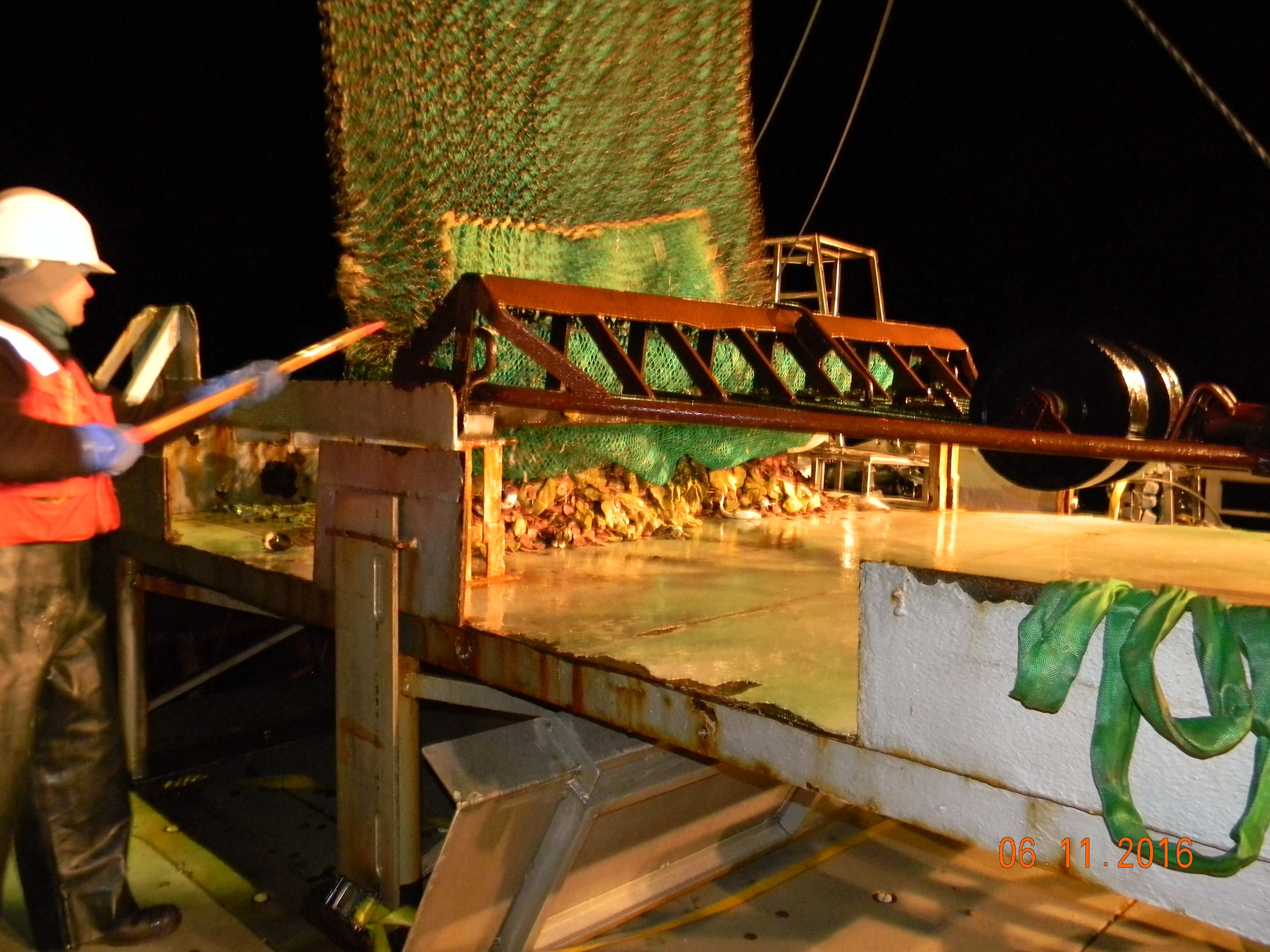 Bycatch noaa teacher at sea blog dredge being dumped on sorting table hexwebz Images
