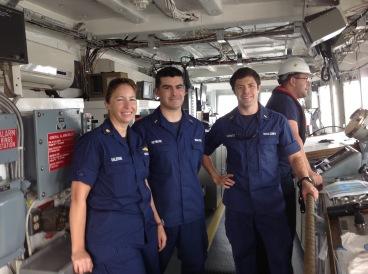 Lieutenant Commander Lecia Salerno, Ensign Dave Reymore and Ensign Brian Yannutz