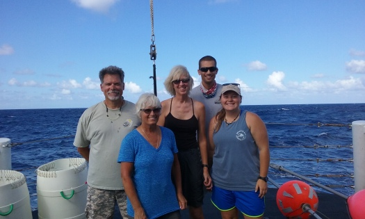 the-day-shift-science-crew-kevin-rademacher-teacher-at-sea-barney-peterson-lisa-jones-mike-cyrana-and-kasea-price