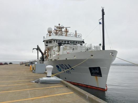 Henry B Bigelow tied to dock in Newport