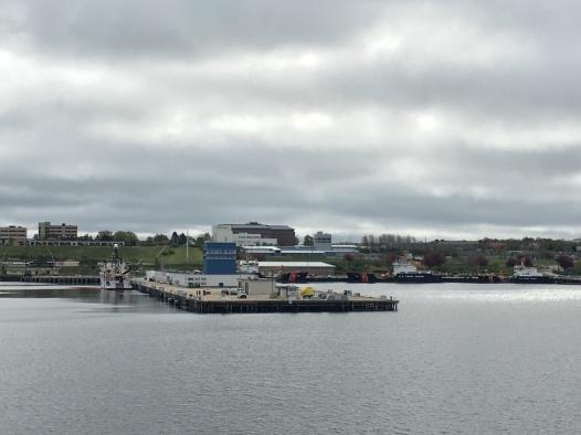 Approaching the dock in Newport