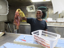 FPC Andre DeBose with lionfish